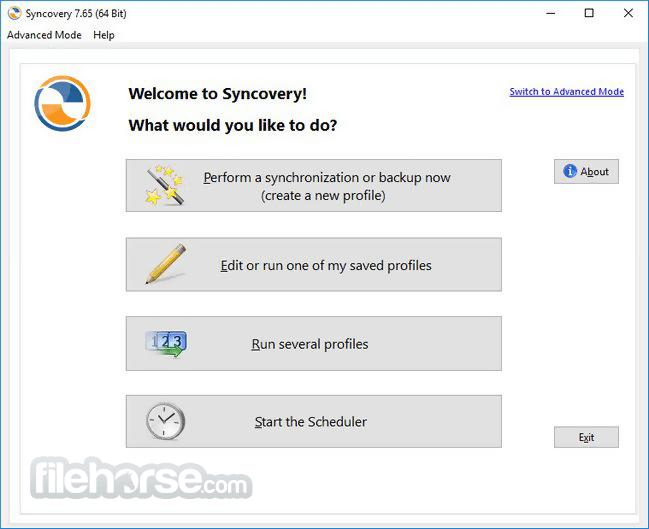 Syncovery 7.95g (32-bit) Screenshot 1