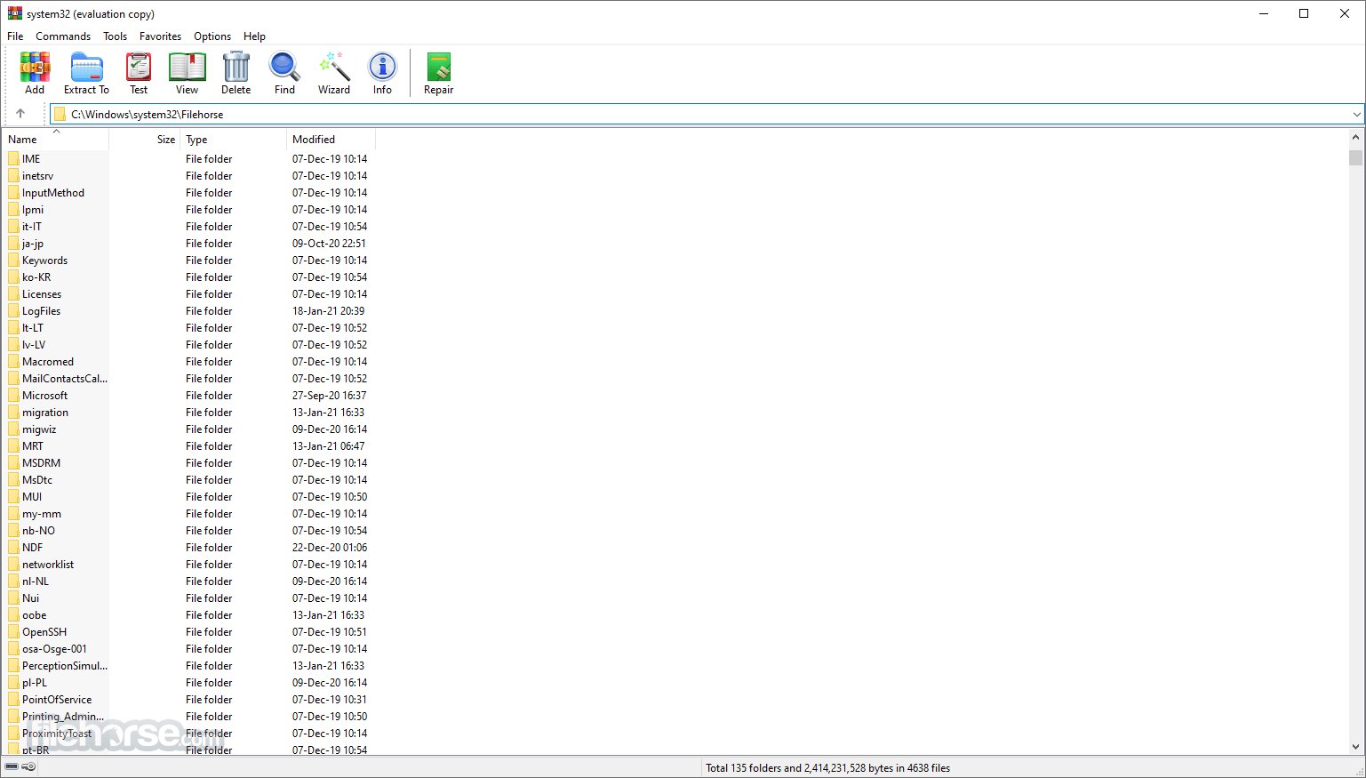 WinRAR 5.50 Beta 5 (32-bit) Screenshot 1