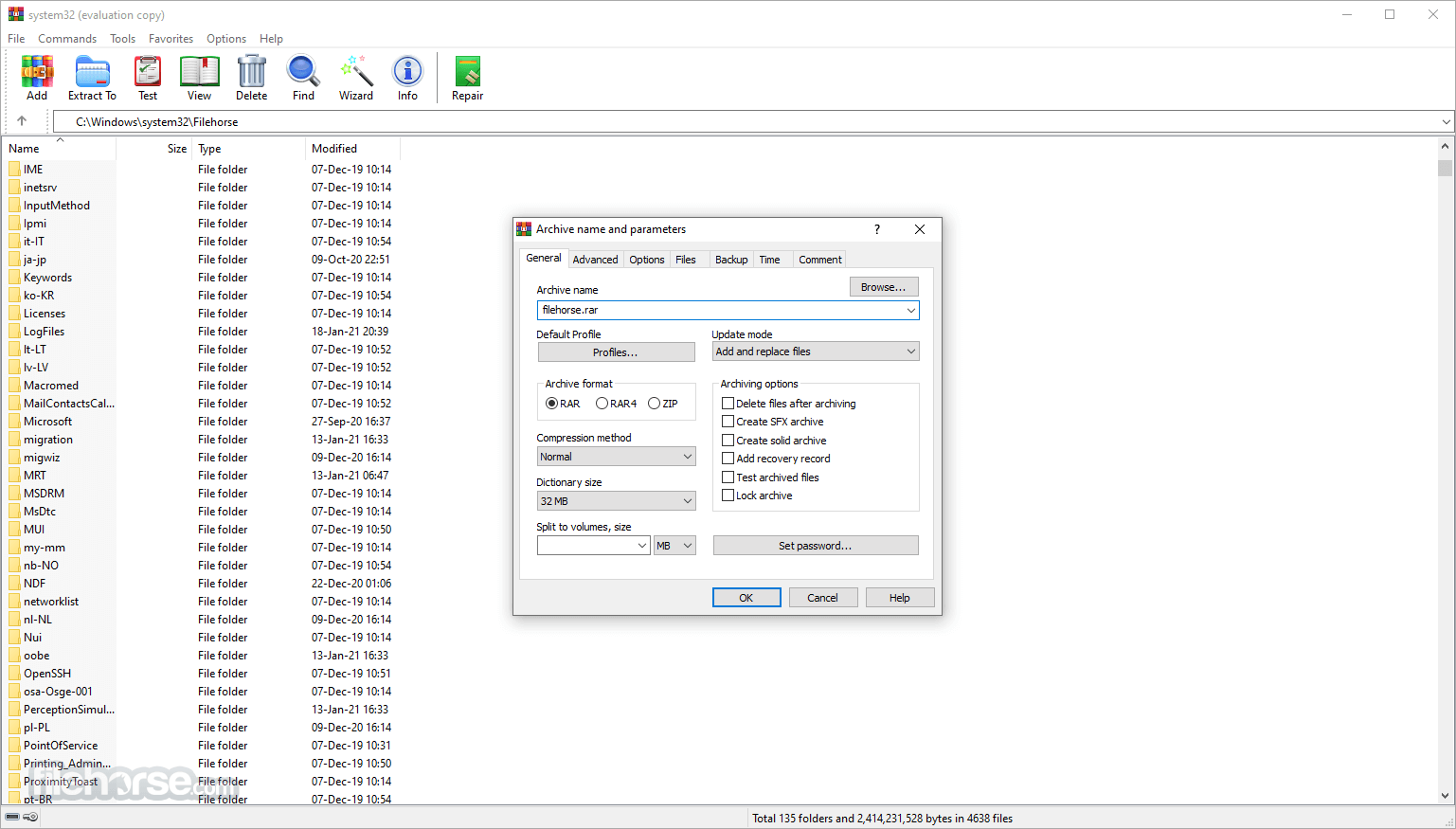 WinRAR 5.50 Beta 4 (32-bit) Screenshot 2