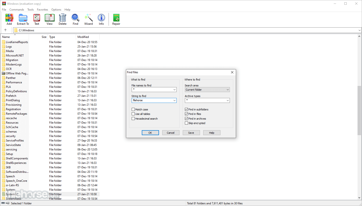 WinRAR 5.50 Beta 4 (32-bit) Screenshot 3