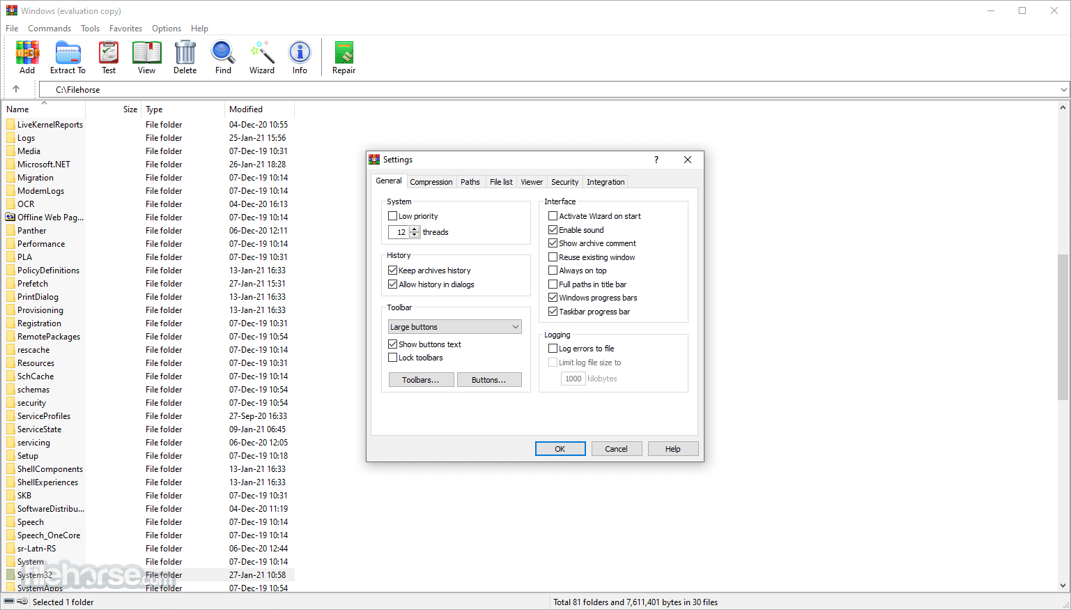 WinRAR 5.50 Beta 5 (32-bit) Screenshot 4