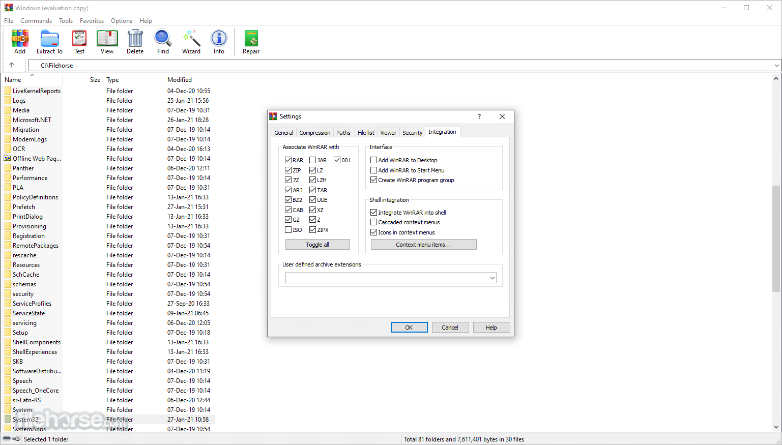 WinRAR 5.50 Beta 4 (32-bit) Screenshot 5