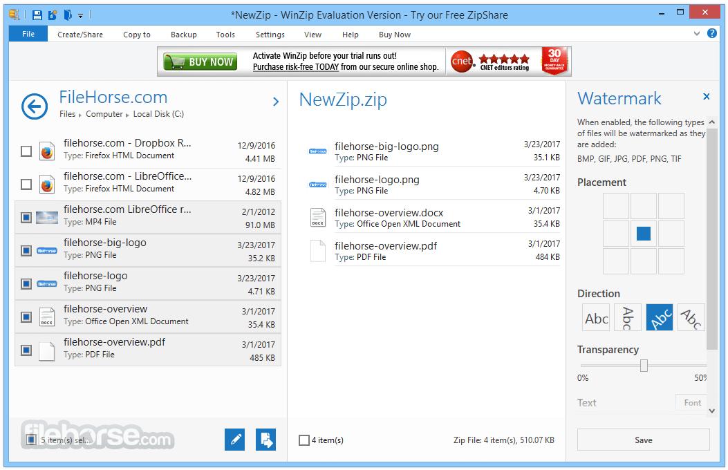 WinZip 22.0 Build 12706 (32-bit) Captura de Pantalla 3