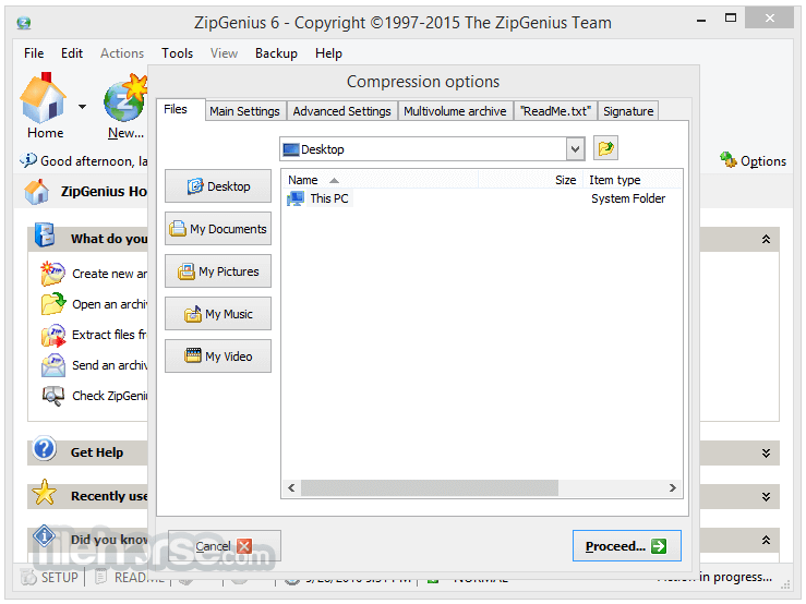 ZipGenius 6.3.2.3116 Captura de Pantalla 4