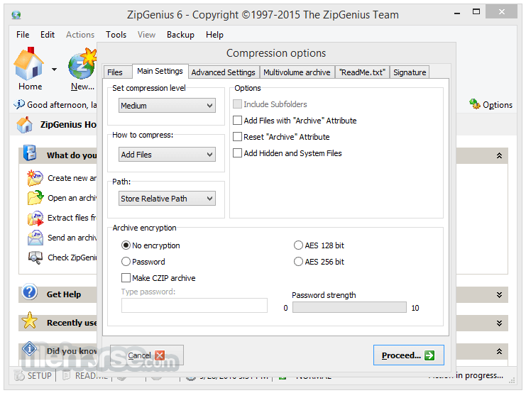 ZipGenius 6.3.2.3116 Captura de Pantalla 5