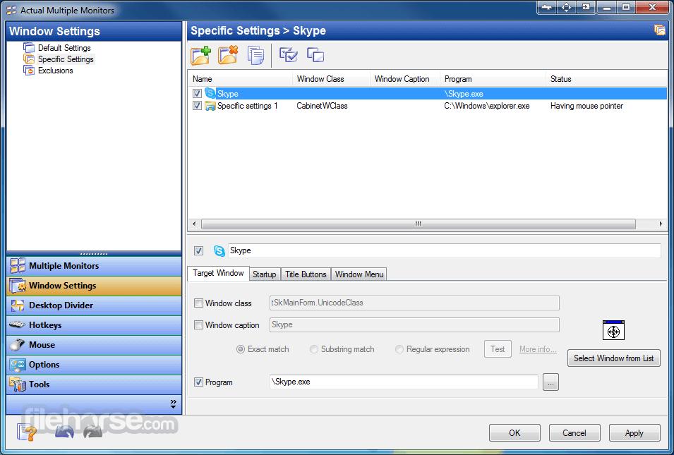 Actual Multiple Monitors 8.14.3 Screenshot 4