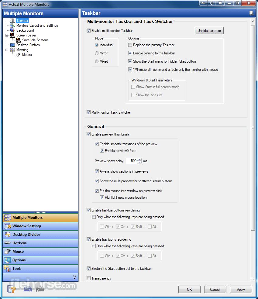 Actual Multiple Monitors 8.14.3 Screenshot 5