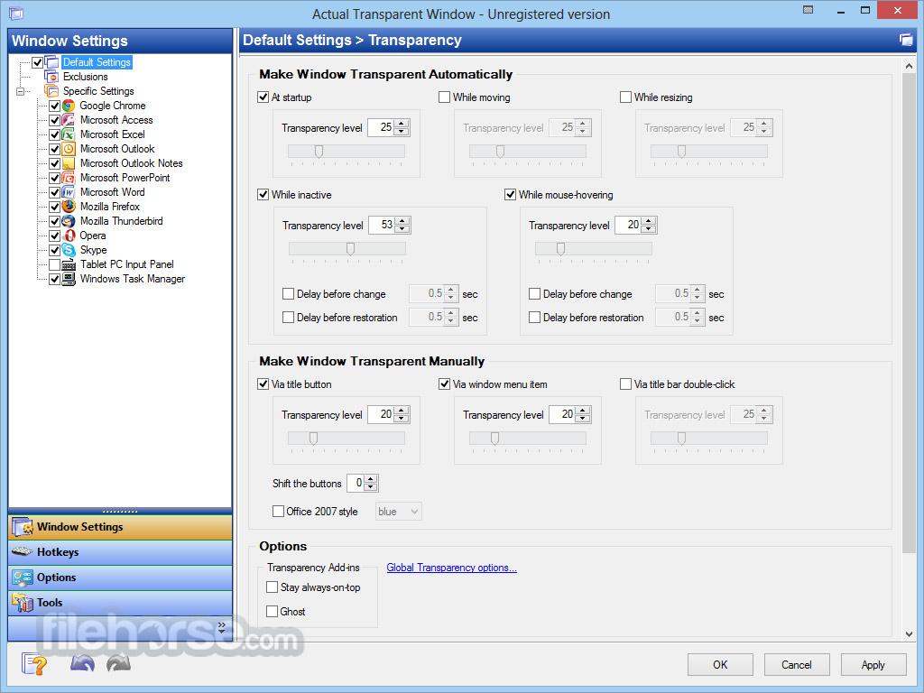 Actual Transparent Window 8.11.2 Screenshot 1