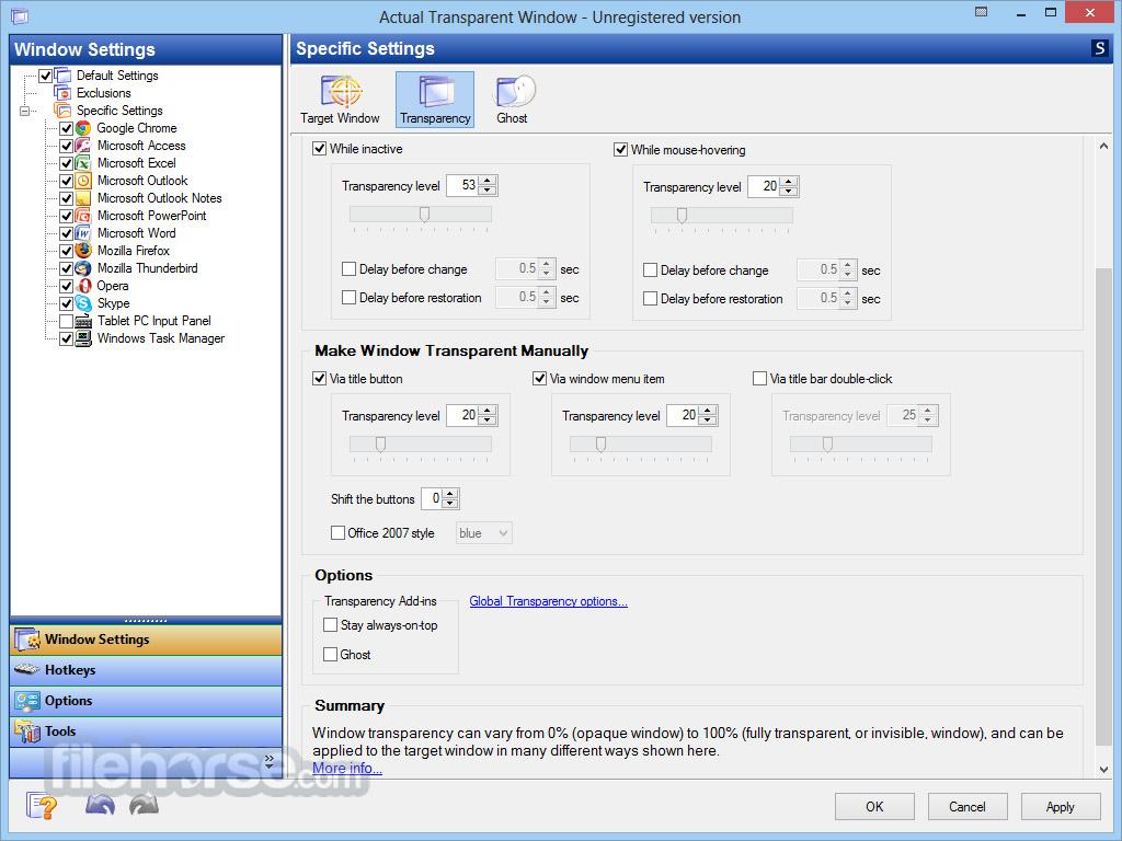Actual Transparent Window 8.11.2 Screenshot 2