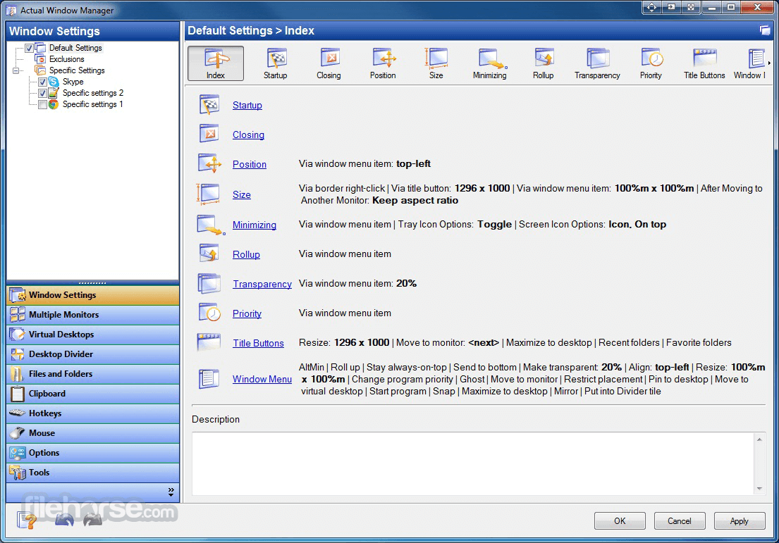 Actual Window Manager 8.14.3 Screenshot 1