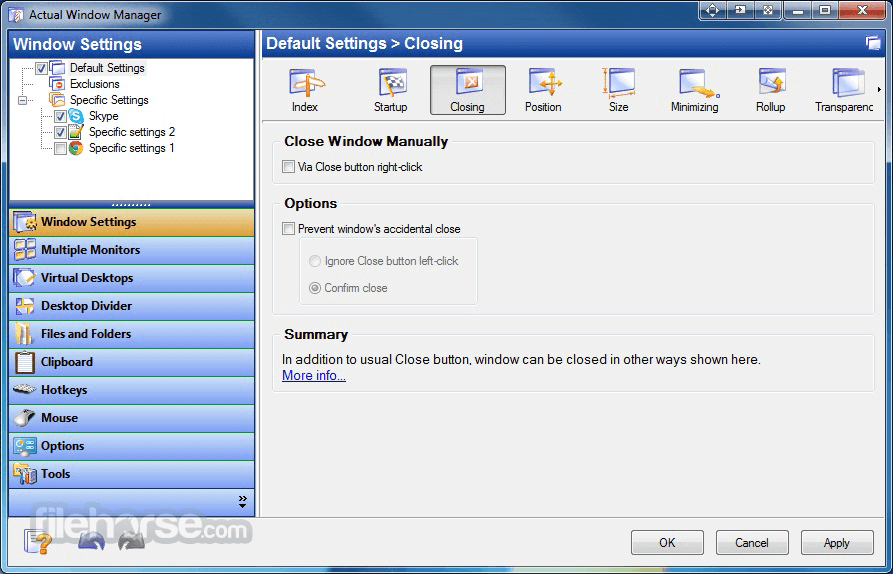 Actual Window Manager 8.14.3 Captura de Pantalla 3