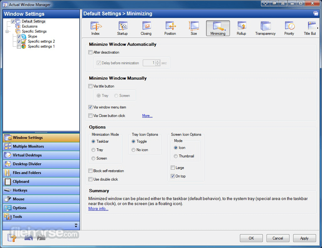 Actual Window Manager 8.14.3 Screenshot 4