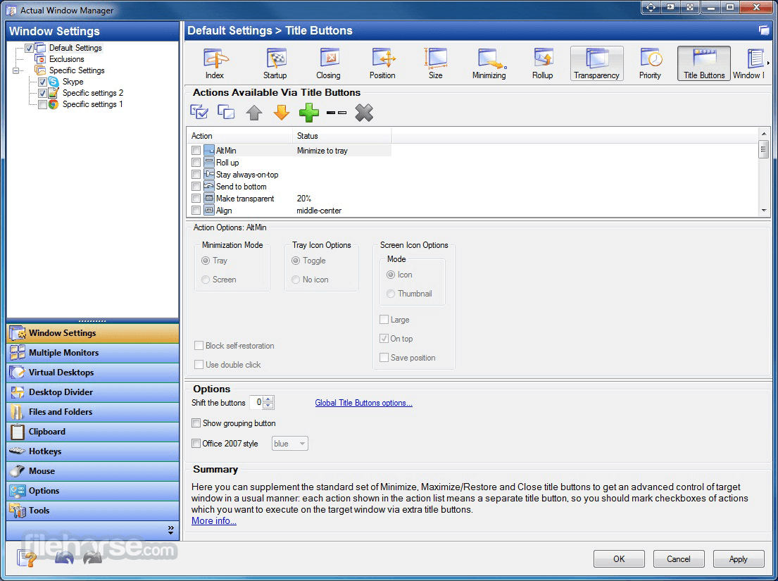 Actual Window Manager 8.14.3 Screenshot 5