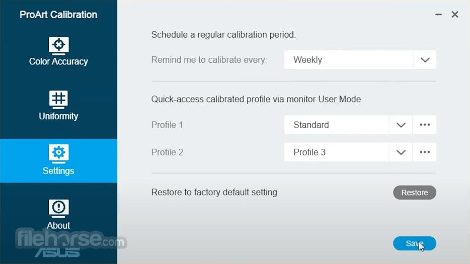 ASUS ProArt Calibration 1.14.06 Screenshot 3