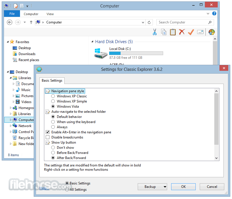 WatFile.com Download Free Classic Shell 4 3 0 Download for Windows FileHorse