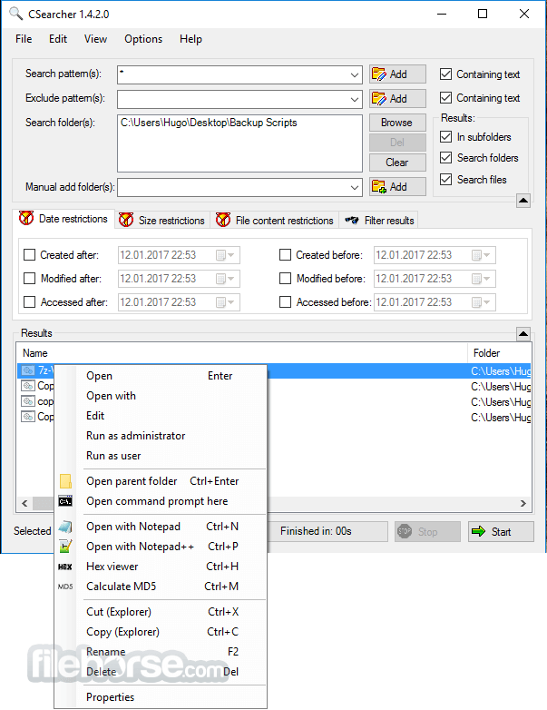 CSearcher 1.5.5.0 Screenshot 1