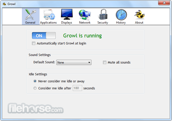 Growl 2.0.9 Captura de Pantalla 1