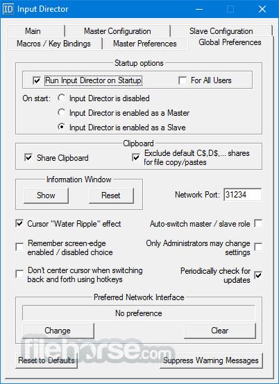 Input Director 2.0.1 Captura de Pantalla 2