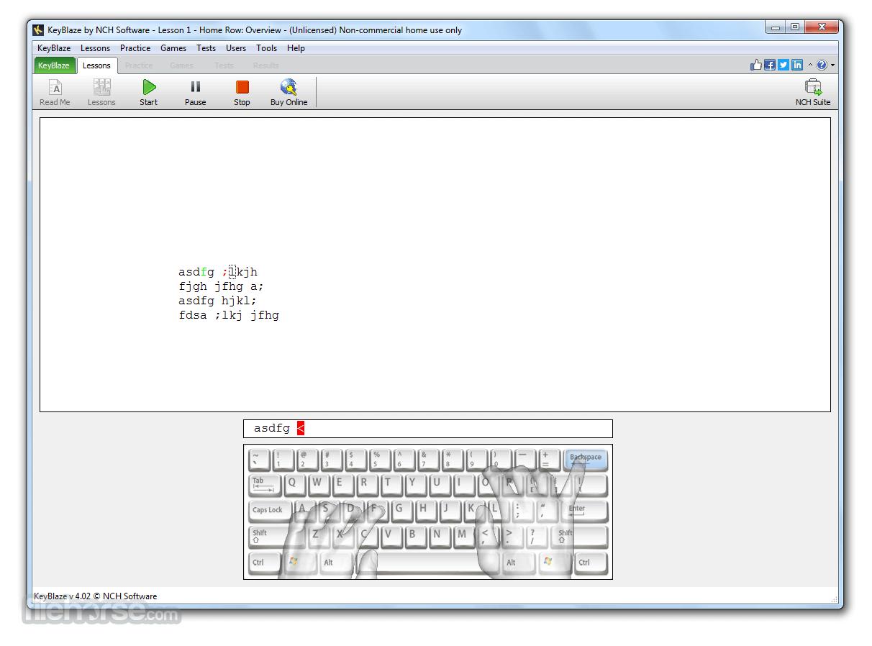 KeyBlaze Typing Tutor 4.02 Captura de Pantalla 1