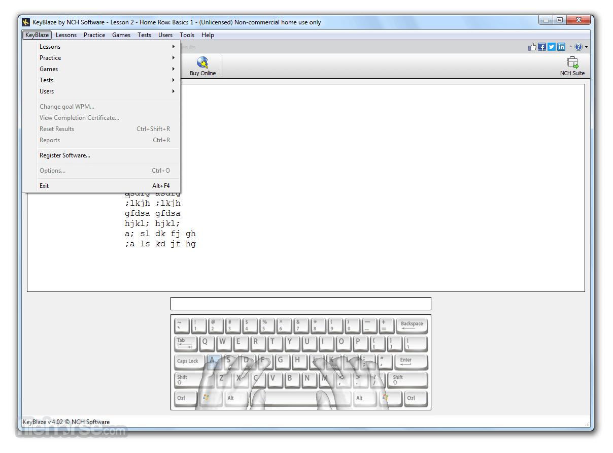 KeyBlaze Typing Tutor 4.02 Captura de Pantalla 2