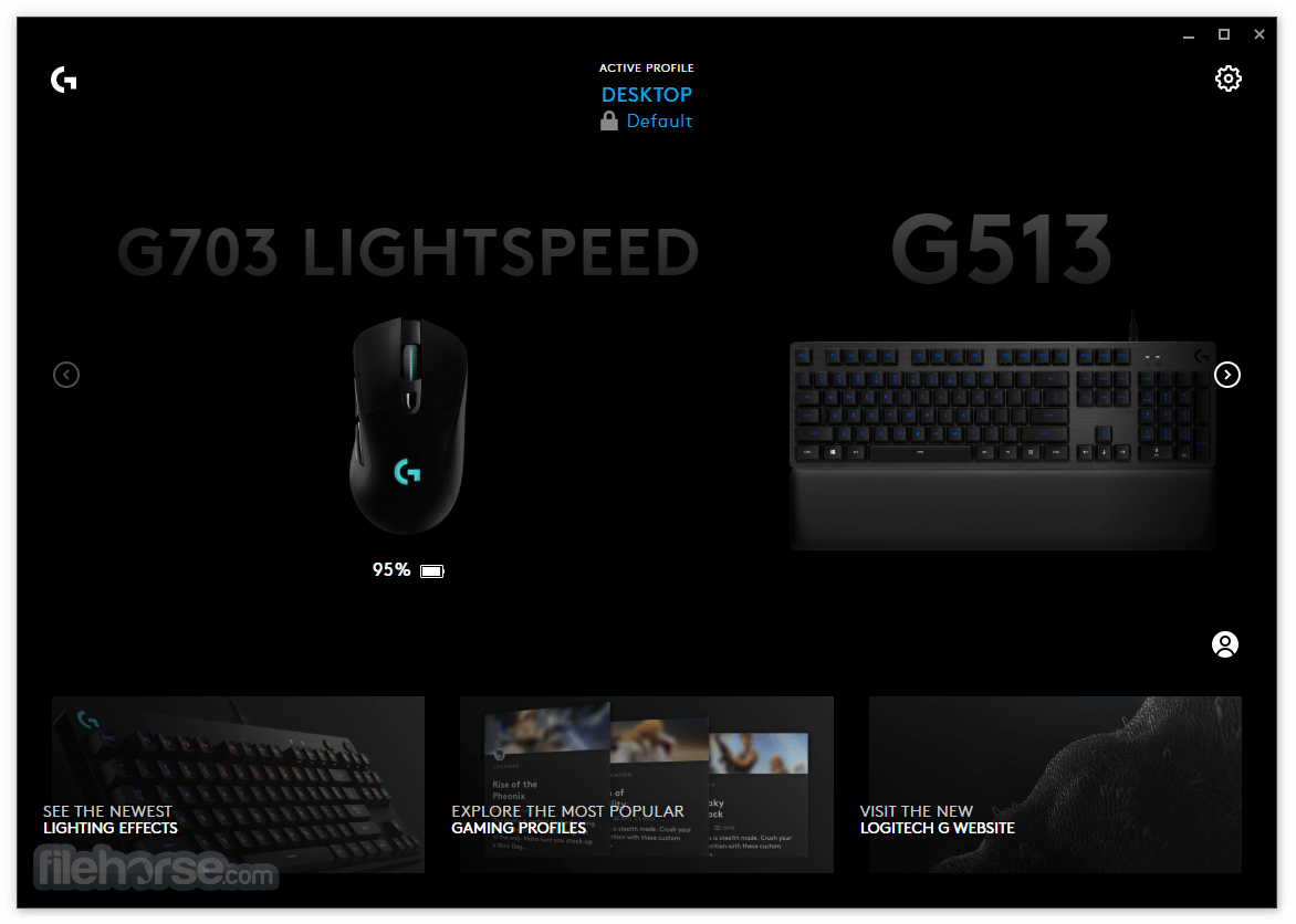 Logitech G HUB 2020.11.9270 Screenshot 1