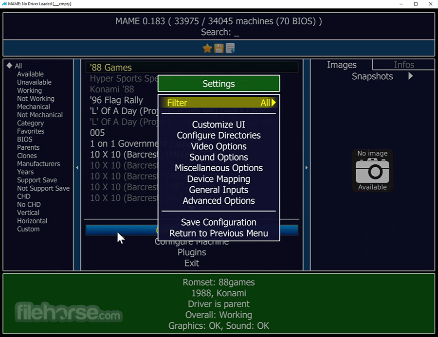 MAME 0.193 (32-bit) Screenshot 2