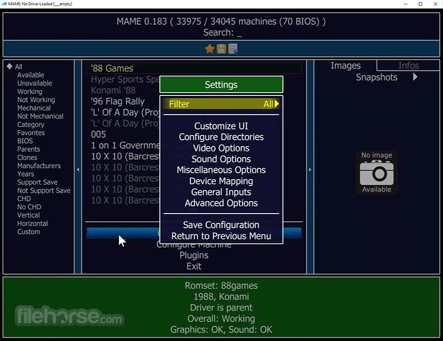 MAME 0.193 (64-bit) Captura de Pantalla 2