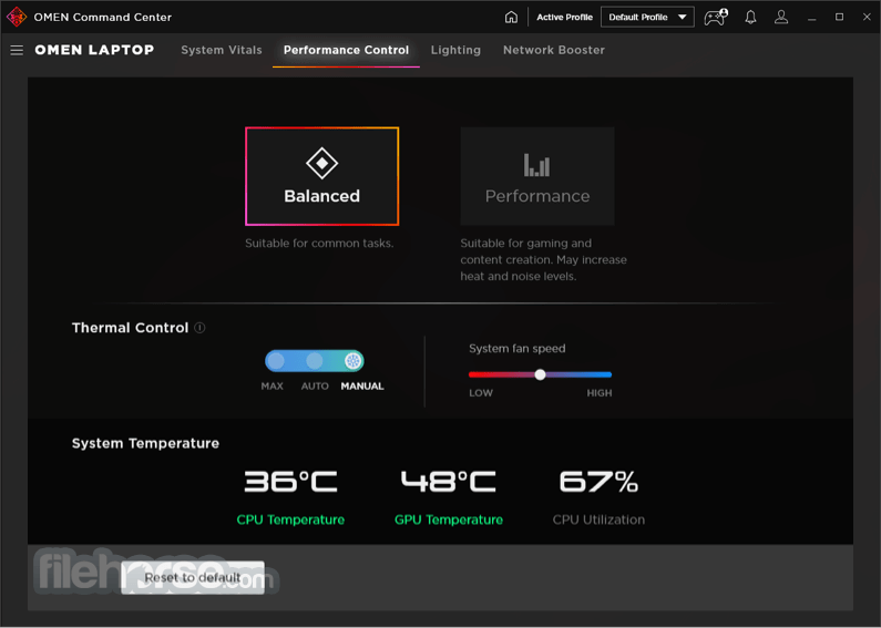 OMEN Command Center 10.0.20 Screenshot 5