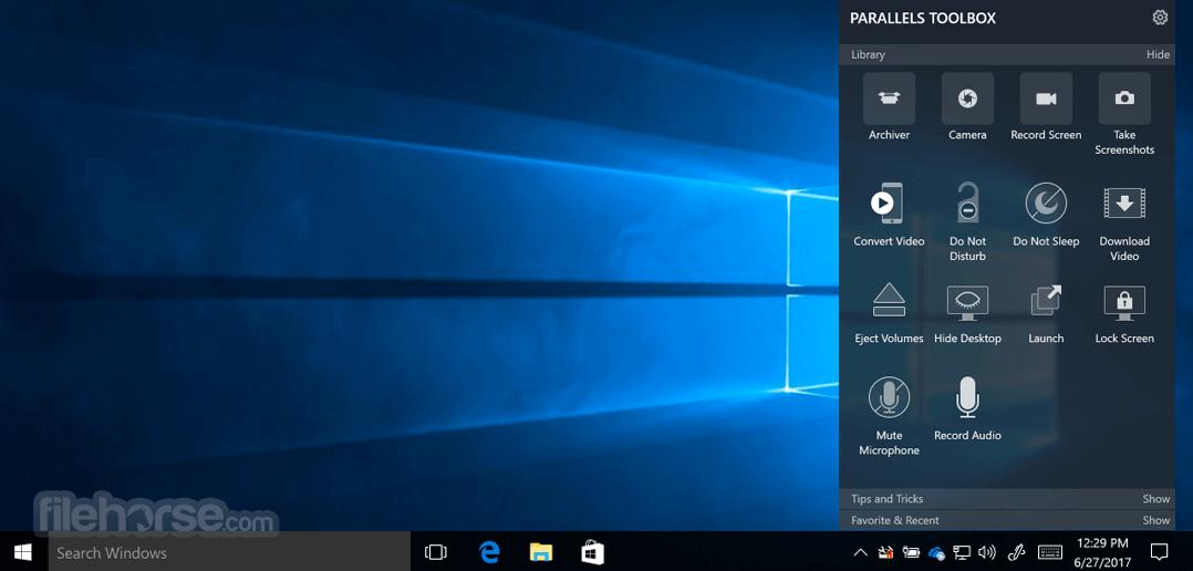 Parallels Toolbox 5.0.0 Build 3021 Captura de Pantalla 1