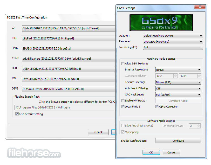 PCSX2 1.5.0 Build 2964 Nightly Screenshot 2