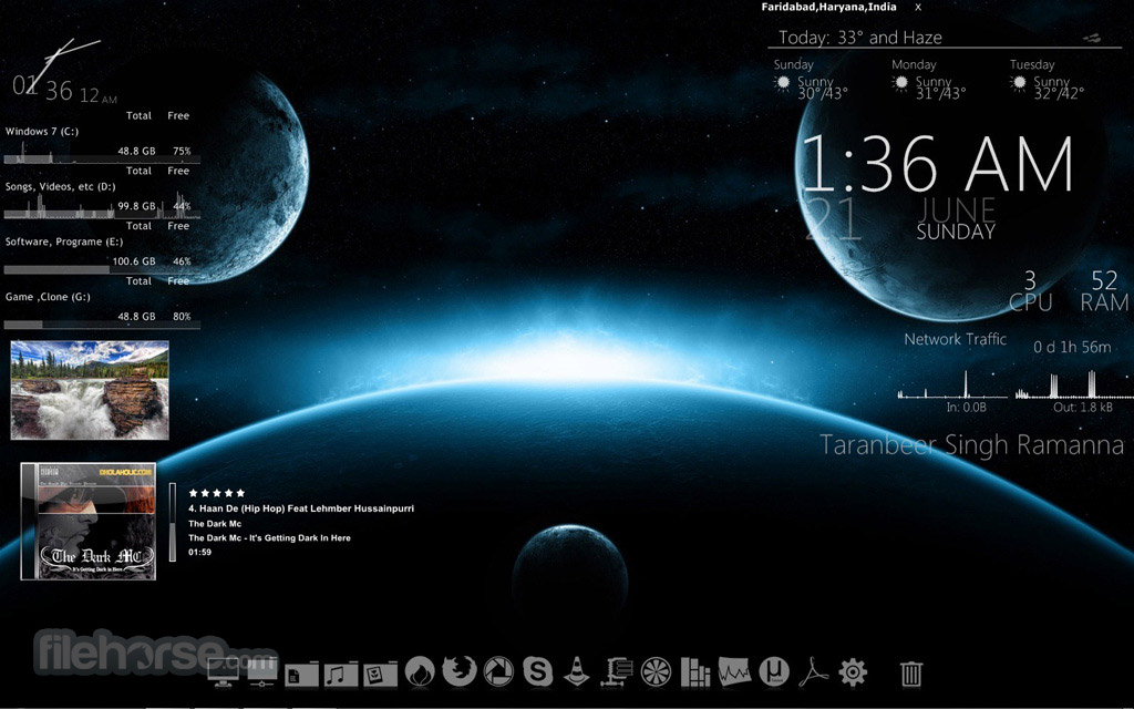 download rainmeter skin anime rainmeter deviantart music