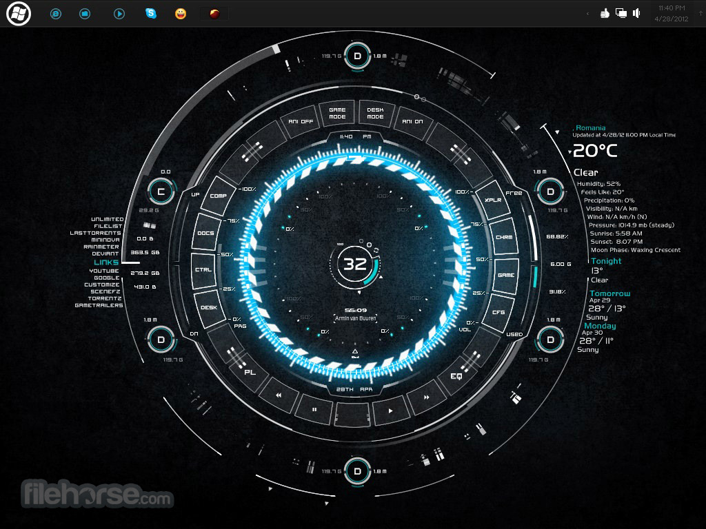 Rainmeter 4.1.0 Captura de Pantalla 2