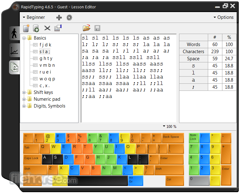 RapidTyping 5.2 Captura de Pantalla 5