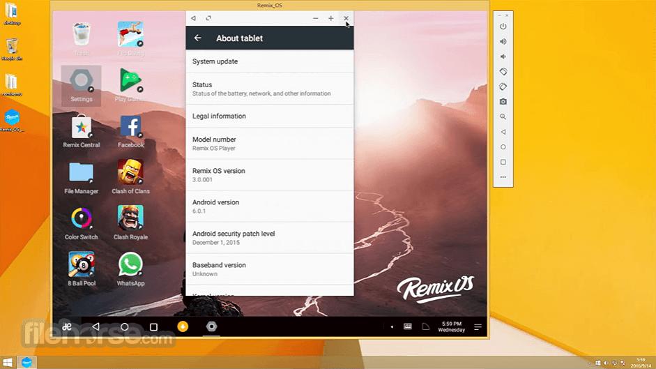 Remix OS Player 1.0.110 Captura de Pantalla 4