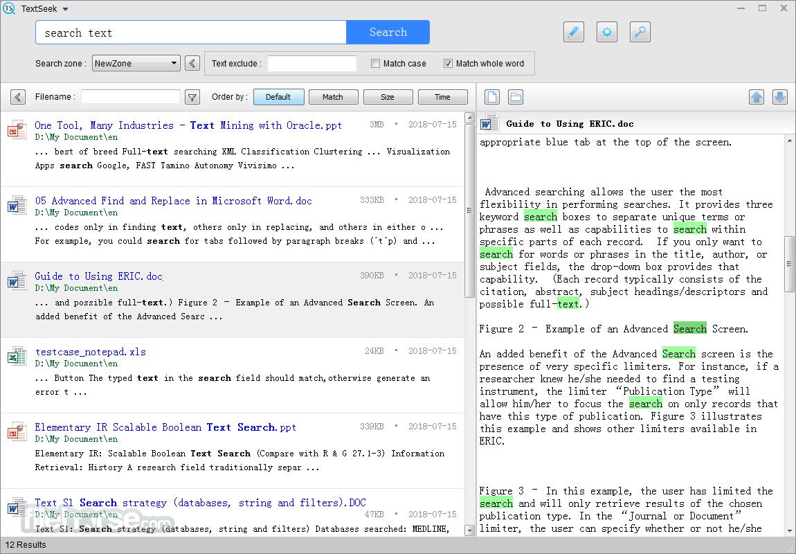TextSeek 2.7.2125 Screenshot 1