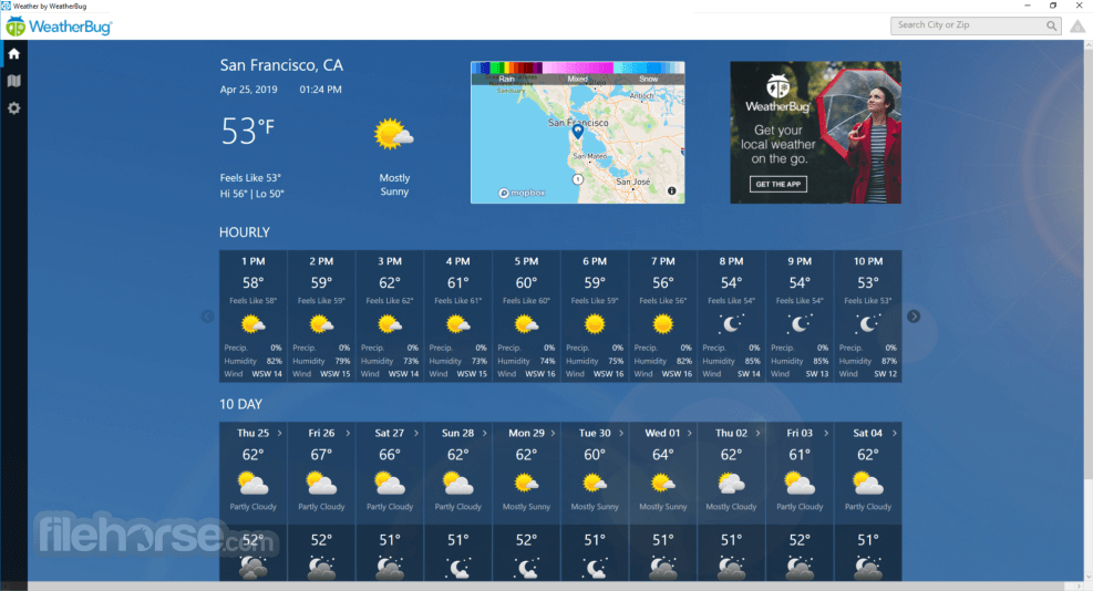WeatherBug 10.0.7.4 Screenshot 1