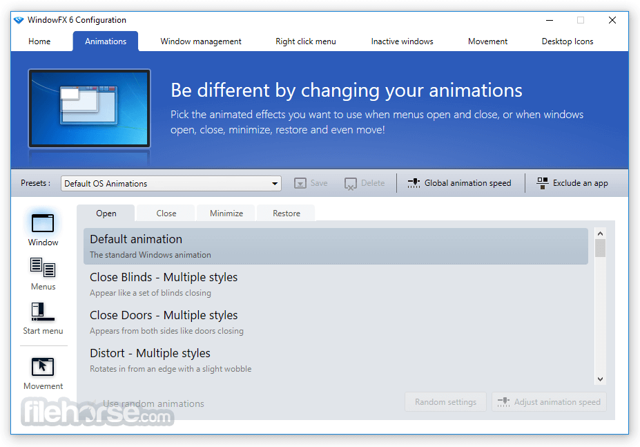 WindowFX 6.03 Screenshot 2
