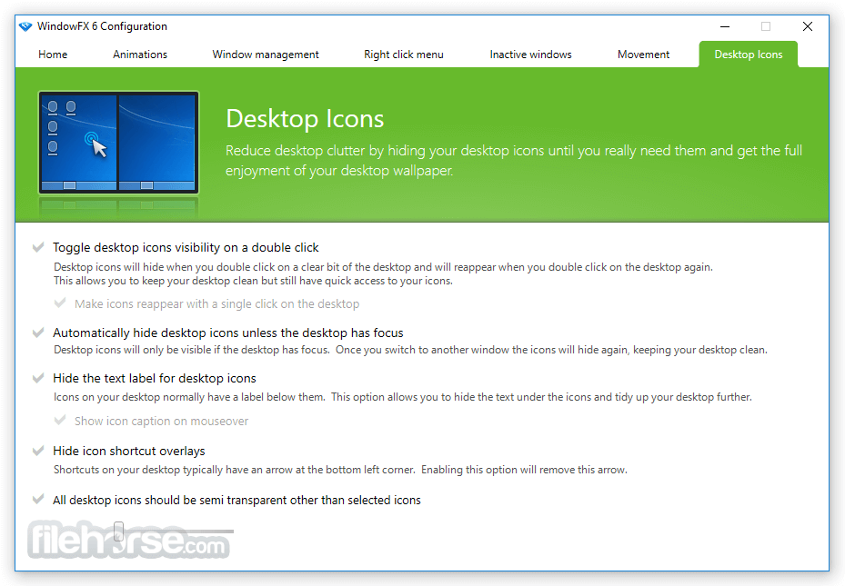 WindowFX 6.03 Screenshot 5