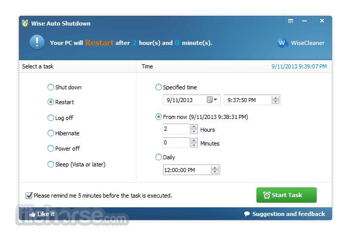 Wise Auto Shutdown 1.36 Free Download