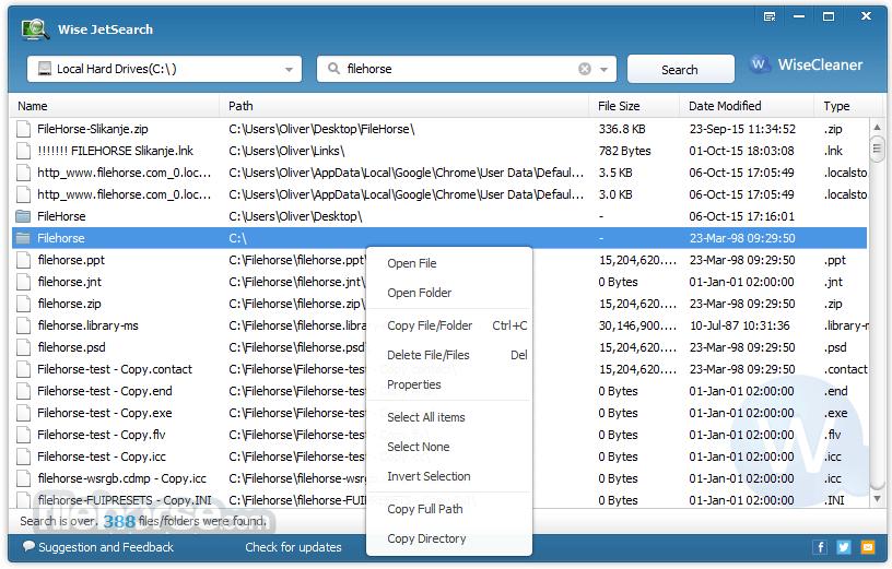 Wise JetSearch 2.35 Screenshot 1