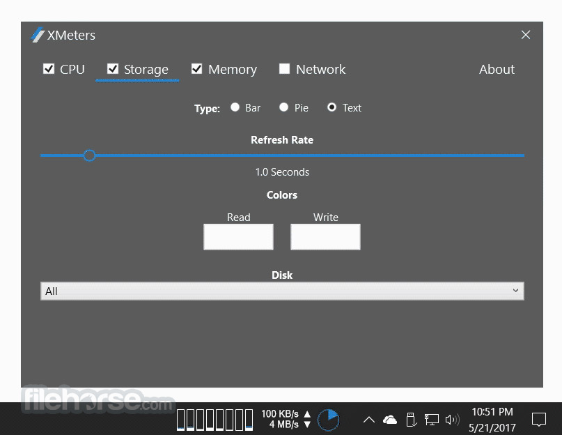 XMeters 1.0.102 Captura de Pantalla 2