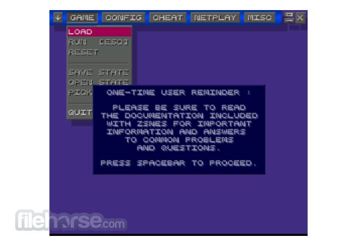 zSNES 1.51 Screenshot 1