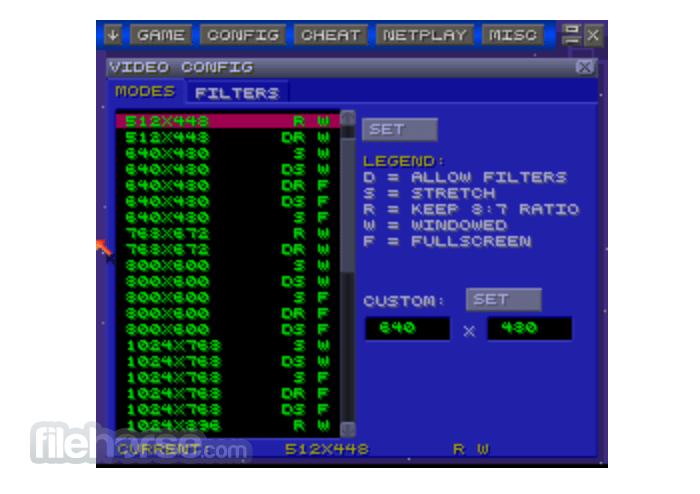 zSNES 1.51 Screenshot 4