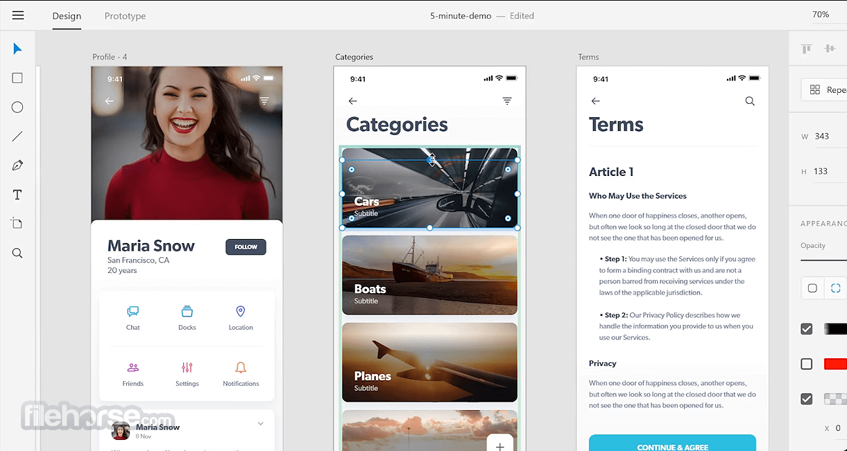 Adobe XD CC 33.0.12 Screenshot 2