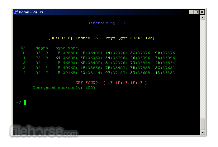 Aircrack-ng 1.6 Screenshot 1