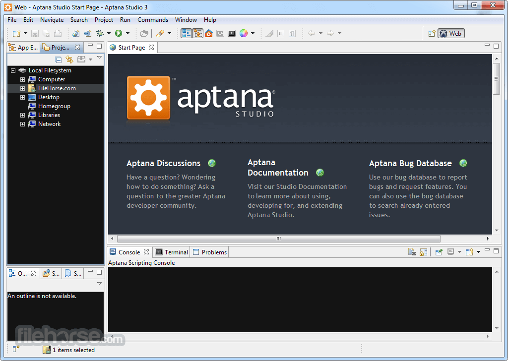 Aptana Studio 3.7.2 Screenshot 1