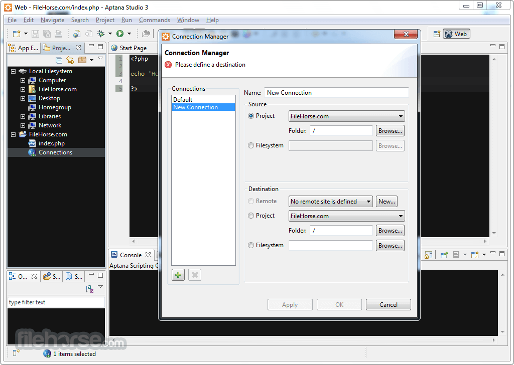 Aptana Studio 3.7.2 Screenshot 3
