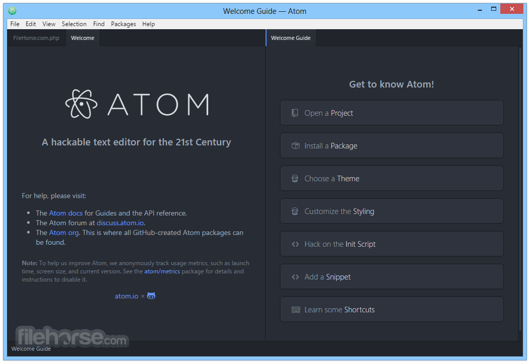 Atom 1.26.0 (32-bit) Screenshot 1