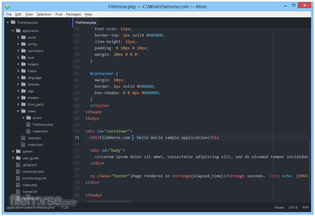 Atom 1.26.0 (32-bit) Screenshot 2