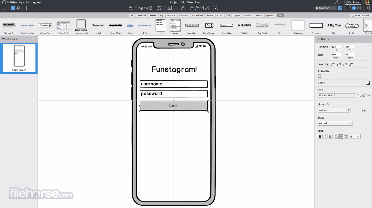 Balsamiq Wireframes 4.1.4 (32-bit) Screenshot 1